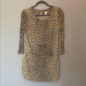 Animal print tunic from J Crew